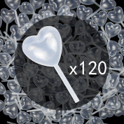 Tomnk 120pcs Plastic Heart-sharped Transfer Cupcake Pipettes (4ml), for Chocolate, Muffin, Strawberry