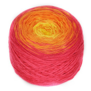 Rellana Rainbow, Bobbel, Colour 24 tutti frutti, Quadruple gefachtes Yarn for Crochet and Knit, 200 Grammes Wad approx. 800 M LL, great Colour gradient