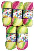 5 x 100g Alize Burcum Bebe Wool Knitting & Crochet 2613