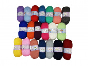 5 x 100g Knitting Wool Alize Bebe 5 Colours Yarn Total 1600 m Assorted Colours