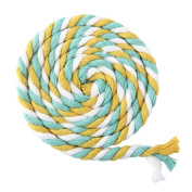 ULTNICE 100m Multicolor 3-Ply Twisted Cotton Rope Cotton Cord String for DIY Arts Crafts 6mm