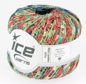 LADDER YARN by Ice Yarns No 47199 Copper/green/blue/lurex mix.+ Free Scarf Pattern