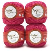 Anchor Freccia 4x50g STÄRKE6 Colour – 8313 Bright Pink