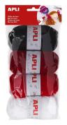 Apli 946052 - Balls of Wool 4 units 50g, Red Tones
