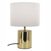 Living & Co Georgia Table Lamp Gold Base White Shade