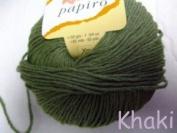 Katia Papiro cotton/linen yarn, 50g - Khaki green