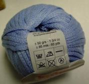 Katia Jet cotton/acrylic yarn, 50g - sky blue