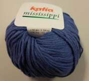 Katia Mississippi cotton/acrylic yarn, 50g - denim blue