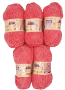 5 x 100g Super Soft and Super Bulky Himalaya Dolphin Baby 80332 Salmon 500 Gramme Wool Knit and Crochet