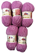 5 x 100 g Himalayan Dolphin Baby 80334 Lilac 500 Gramme Wool Knit and Crochet