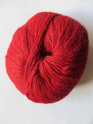 Inca Collection by PollyJane - 100% Pure Baby Alpaca DK Yarn - 50g. C806 Pillarbox Red