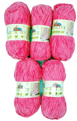 5 x 100 g Himalayan Dolphin Baby 80324 Pink 500 Gramme Super Bulky Wool Knit and Crochet