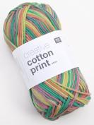 Rico Creative Cotton Print Aran Colour 19 – Tropic, Cotton Yarn for Knitting & Crochet