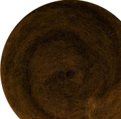 100% Wool for Felting or Spinning Carded Roving Wool for Both Dry and Wet Felting - Dark Brown, 100 g