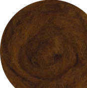 100% Wool for Felting or Spinning Carded Roving Wool for Both Dry and Wet Felting - Dark Brown Chocolate, 100 g