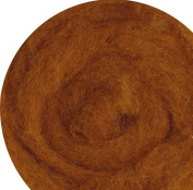 100% Wool for Felting or Spinning Carded Roving Wool for Both Dry and Wet Felting - Brown Milk Chocolate, 100 g