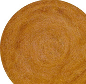 100% Wool for Felting or Spinning Carded Roving Wool for Both Dry and Wet Felting - Yellow Brown Beige Dark Tan, 100 g