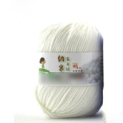 Lsv-8 Fibroin Wool Yarn Smooth Worsted Soft Natural Silk Skein Wool Fibre(1Pcs