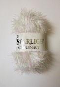 Woolcraft Starlight Tinsel Yarn White 50g