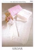 Sirdar Baby Shawls & Blankets Knitting Pattern 3982 3 Ply, DK