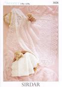 Sirdar Baby Shawls Knitting Pattern 3028 3 Ply, 4 Ply