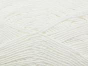 Wendy Supreme Cotton Knitting Yarn 4 Ply 1820 White - per 100 gramme ball