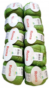 10 x 50 g Metallic Wool Green 500 g 201 – 16 Wool Knit and Crochet