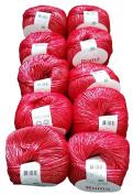10 x 50 g Metallic Wool 201 – 2005 500 g Red Knit and Crochet