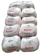 10 x 50 g Metallic White 201 01 500 Gramme Wool Knit and Crochet