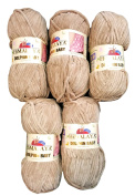 5 x 100g Super Soft and Super Bulky Himalaya Dolphin Baby 80317 Beige Farbe, Wool Knit and Crochet
