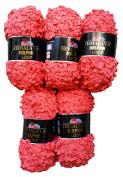 5 x 100g Loop Wool Orange 44 09 Knit and Crochet 500 g Loop Super Bulky 6