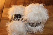 TWO BALLS King Cole Glittery white / Cream Tinsel Chunky Knitting Yarn Festive Wool