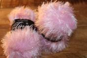 TWO BALLS King Cole Glittery Pale Pink Tinsel Chunky Knitting Yarn Festive Wool