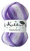 Cygnet C1003/060 Violet Stripe 75/25% Acrylic/Nylon Kids Couture DK Yarn 100g by Cygnet Yarns