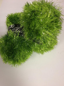 TWO BALLS King Cole Glittery Bright Citrus Green Tinsel Chunky Knitting Yarn Festive Wool