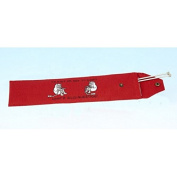 Vanessa Bee To Knit or Not to Knit. Knitting Needle Holder Bright Red