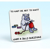 Vanessa Bee To Knit or Not to Knit Knitters Coaster