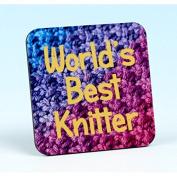 Vanessa Bee World's Best Knitter Knitters Coaster