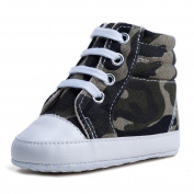 sunnymi For 3-12 Months Kids, Fashion Toddler Baby Boys Girls High Top Camouflage Soft Anti-slip Canvas Shoes Cribe Shoes