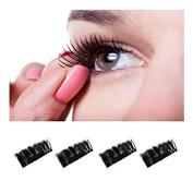 Homax 2 PCK Magnetic Eye Lashes, Hunzed 0.4mm False Eyelashes 3D Reusable Eye Lashes
