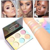 Bescita 6 Colours Highlighter Face Powder Contour Kit Concealer Palette Makeup Women Beauty