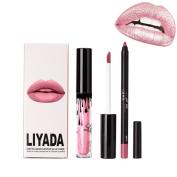 UmayBeauty Glitter Lip Gloss and Lip Liner Kit Shimmering Effect