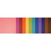 Doodlebug Textured Cardstock Assortment Pack 22cm x 28cm 48/Pkg-Jewel