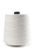 Flaxen Europe 100% Linen Yarn Cone - 2.700 metres - 12x12x16 cm - 0,5 KG (1 LBS) - Twisted from 3 PLY - White - Pure Flax Thread