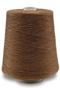 Flaxen Europe 100% Linen Yarn Cone - 2.700 metres - 12x12x16 cm - 0,5 KG (1 LBS) - Twisted from 3 PLY - Brownish - Pure Flax Thread