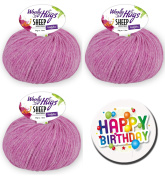 Woolly Hugs – All Series and all colours available Series 1 Sheep Uni - Series 2 Sheep Colour as 50 g Ball with 50% Merino Extra Fine or Series 3 Bandy Colour as 100 g Ball 100% Cotton WOOLLY HUGS SHEEP UNI FarbNr. 37 + 1 x BUTTON
