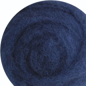100% Wool for Felting or Spinning Carded Roving Wool for Both Dry and Wet Felting - Dark Blue Navy, 200 g