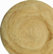 100% Wool for Felting or Spinning Carded Roving Wool for Both Dry and Wet Felting - Brown Beige Peach, 200 g