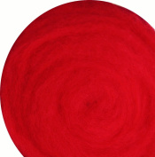100% Wool for Felting or Spinning Carded Roving Wool for Both Dry and Wet Felting - Red, 50 g