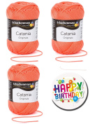 Schachenmayr Catania Quality Choose Your Dream Colours from the colour card 1 (Red & Yellow) Optional for Knitting Wool/Yarn Crochet Yarn with 100% Combed Cotton, 9 Motive buttons also available. From 12 Ball We Take Free At The Button. CATANIA-St-FK1- ..